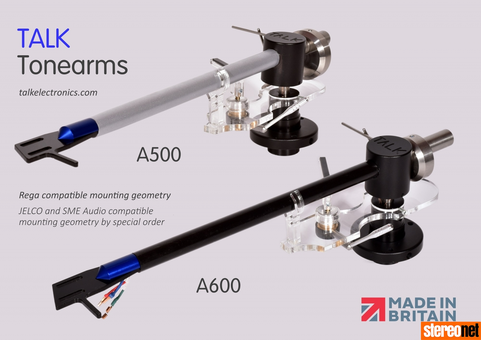 TALK A500 and A600 Tonearms