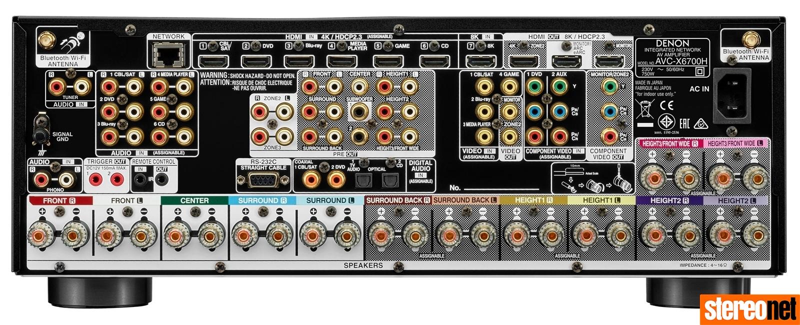 Denon 8K X-Series av receivers