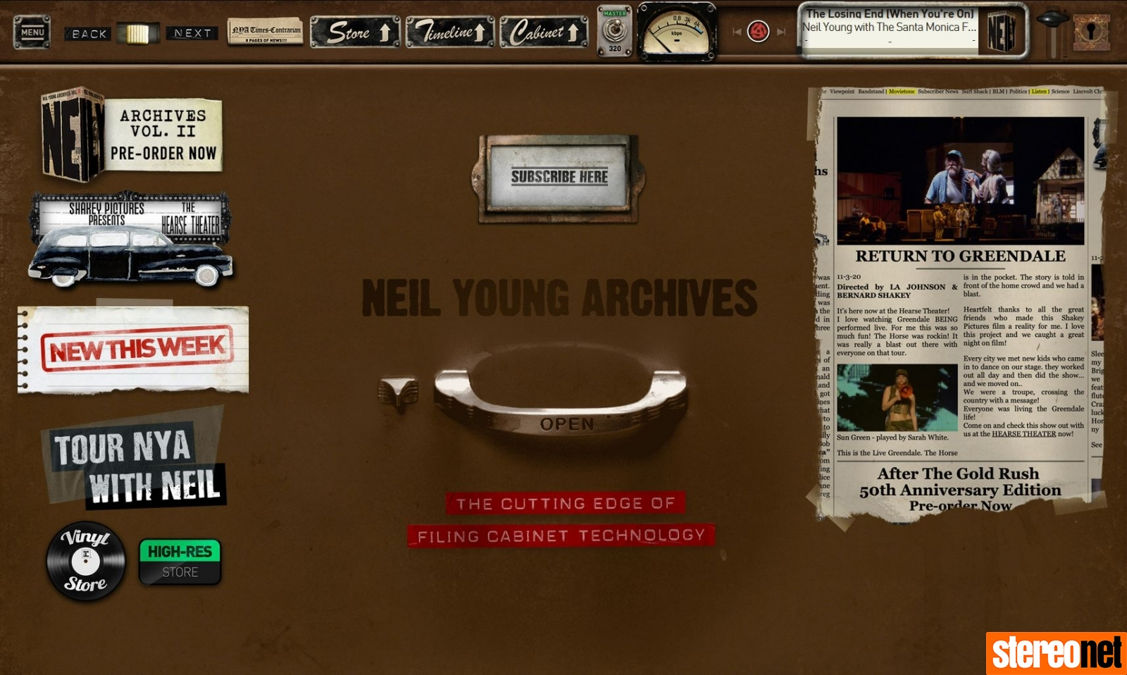 neil young archives bluos