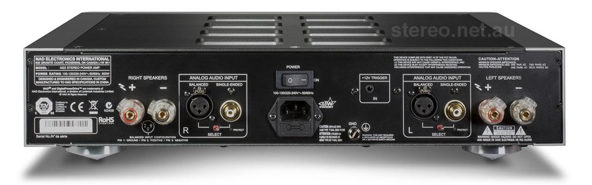 NAD Masters M22 Amplifier Rear