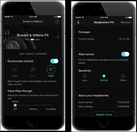 PX Headphones App