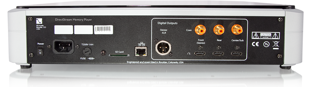 PS Audio DirectStream Memory Player Rear