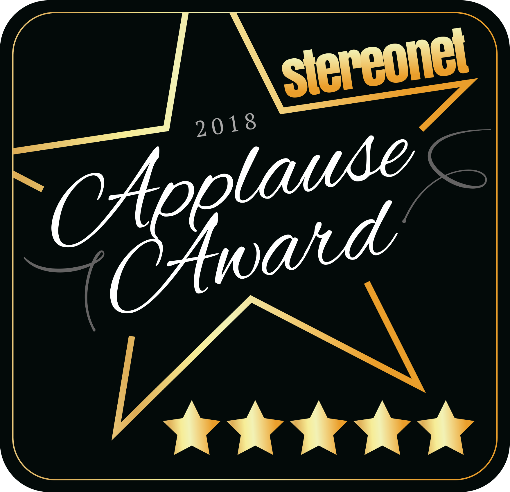 StereoNET UK Applause Award 2018