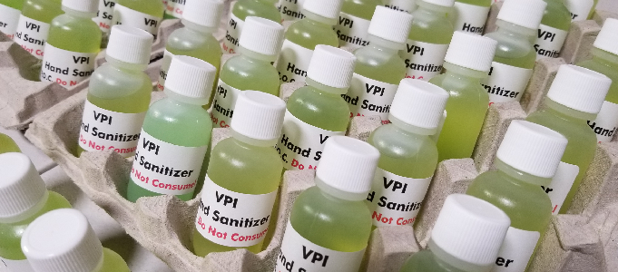 VPI Turns to Making Hand Sanitiser