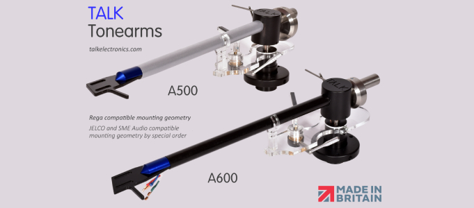 TALK Electronics Announces A500 and A600 Tonearms