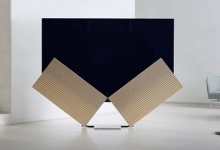 BANG & OLUFSEN BEOVISION HARMONY OLED TV FOLDS AWAY IN MILAN