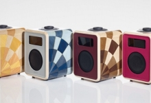 RUARK TEMPO DAB RADIO FEATURES DAVID LINLEY MARQUETRY