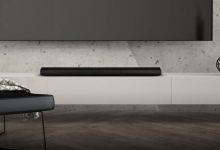WHARFEDALE VISTA 200 SOUNDBAR KEEPS LOW PROFILE