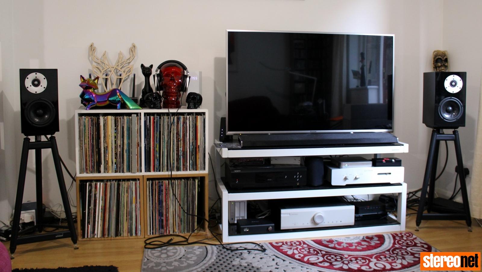 brigadiers audio one audio mu2 speakers on solidsteel ss-6 stands