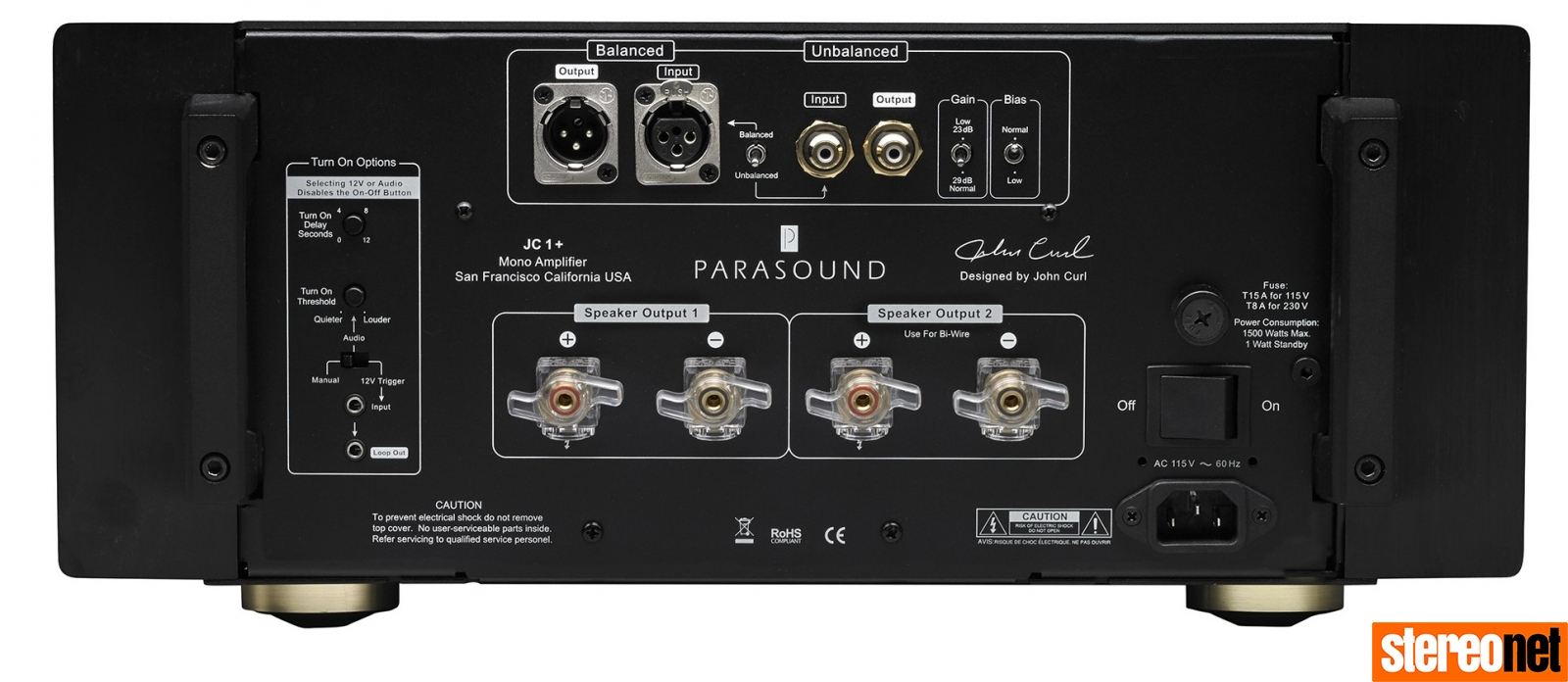Parasound Halo JC 1+ power amp