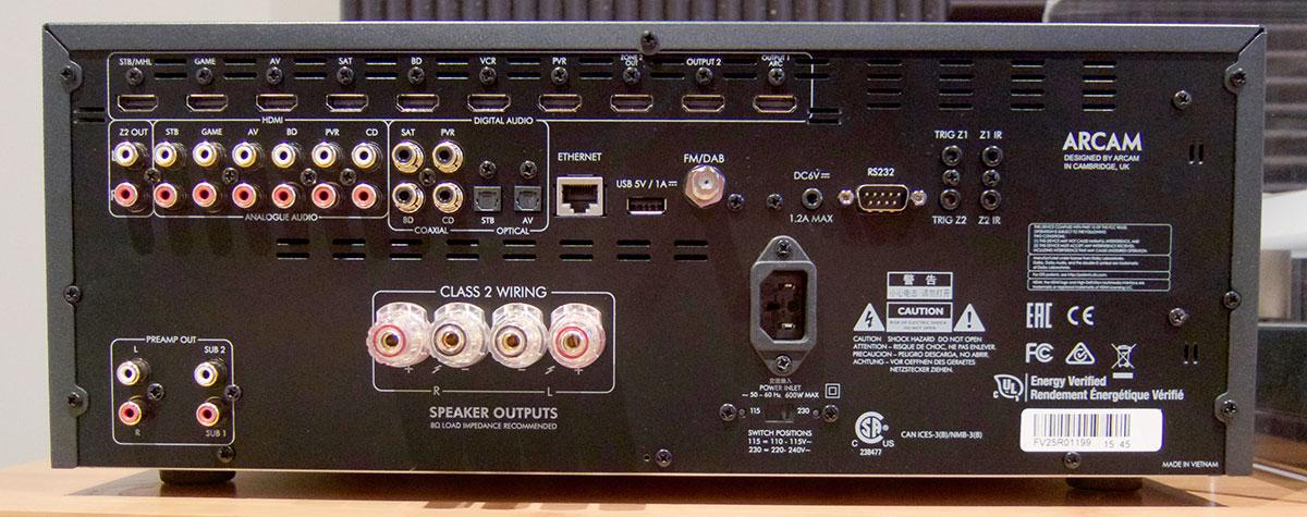 Arcam SR250 Rear